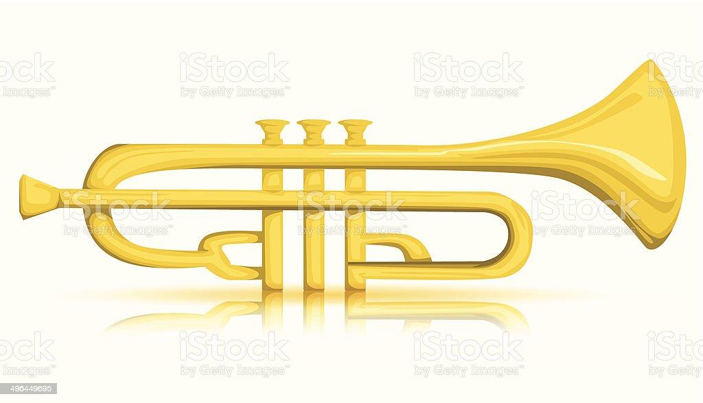 Vecteur de trompette stock vecteur libres de droits libre de droits