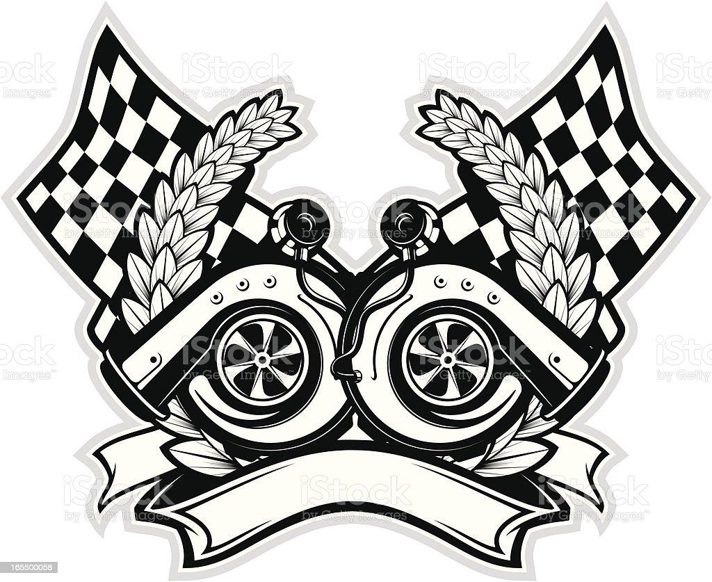 vector turbochargers vector art illustration