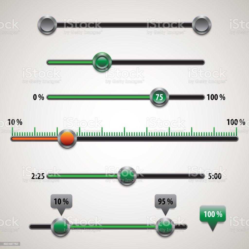 Vector ui elements vector art illustration