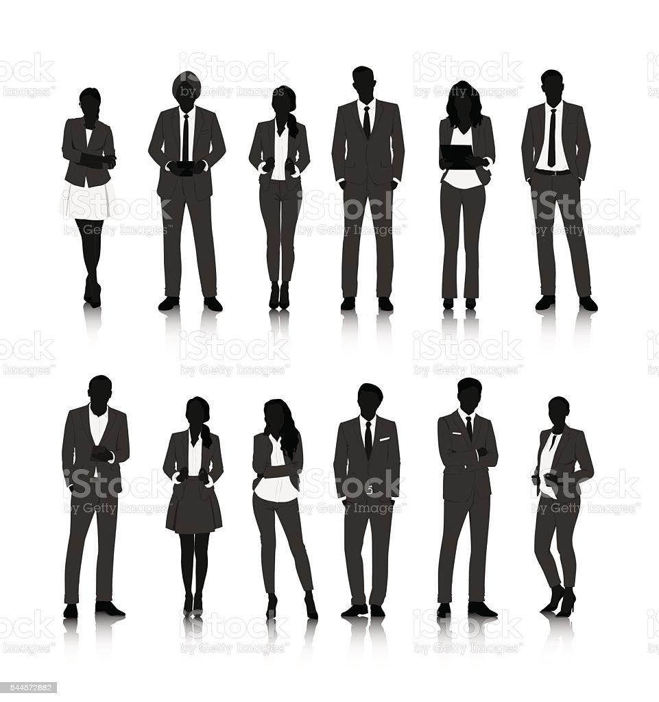 Vector UI Illustration Business People Concept vector art illustration
