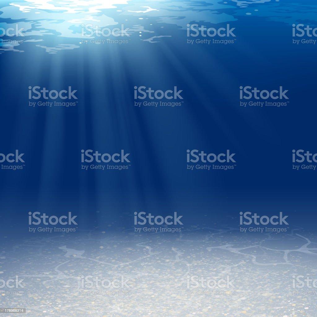 Vector Underwater Background royalty-free stock vector art