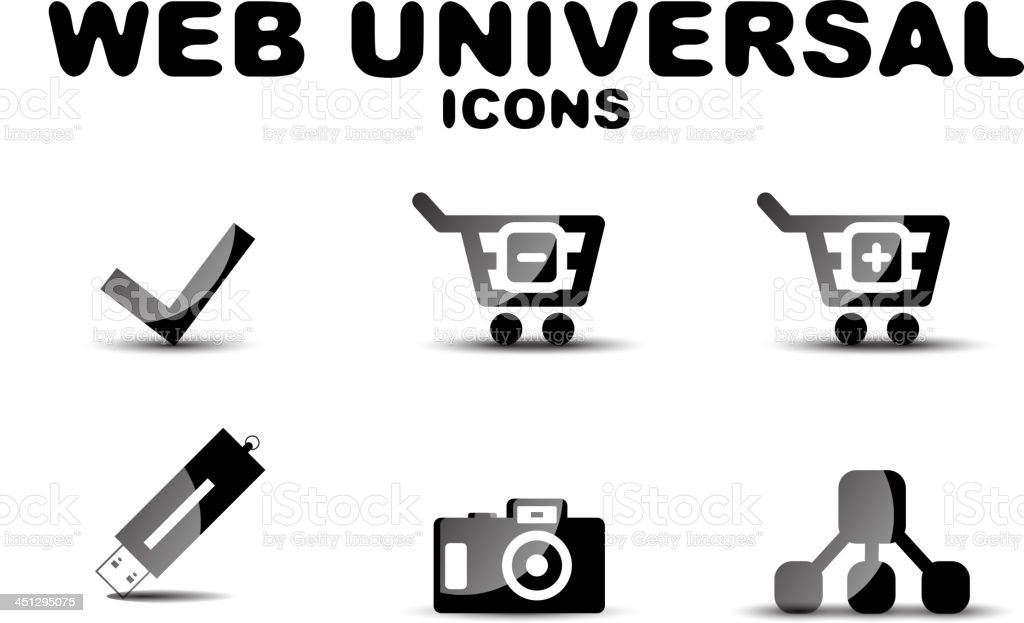 Vector universal web icons royalty-free stock vector art