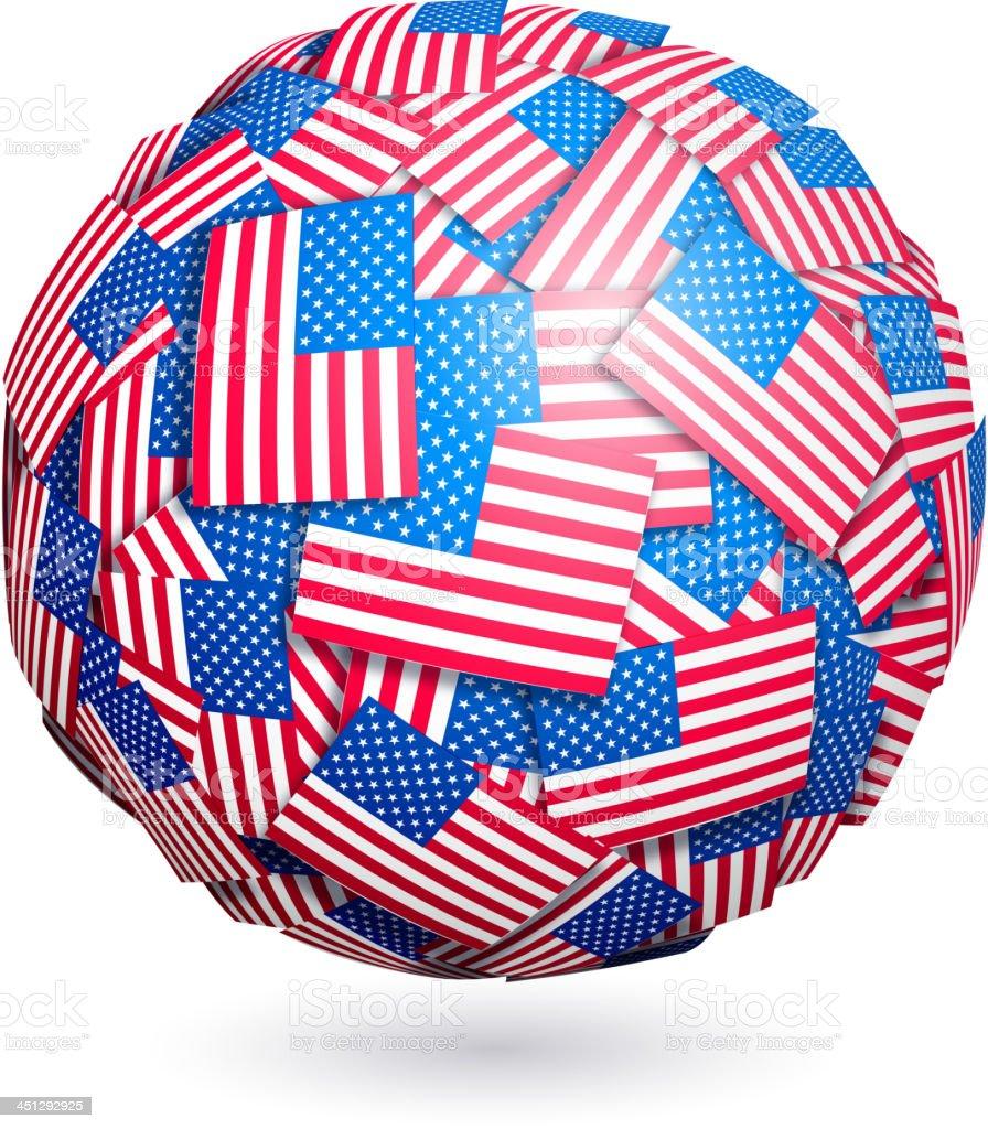 Vector US flags sphere royalty-free stock vector art