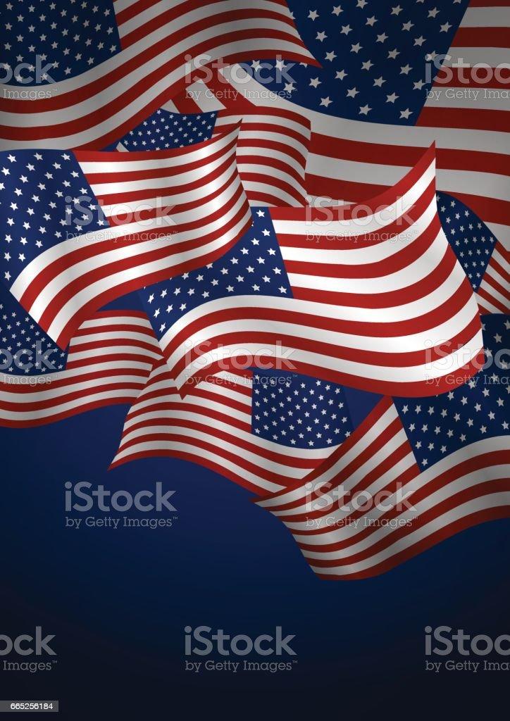 Vector USA flag background design vector art illustration