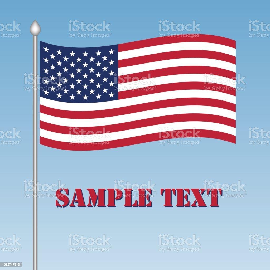 vector USA flag vector art illustration