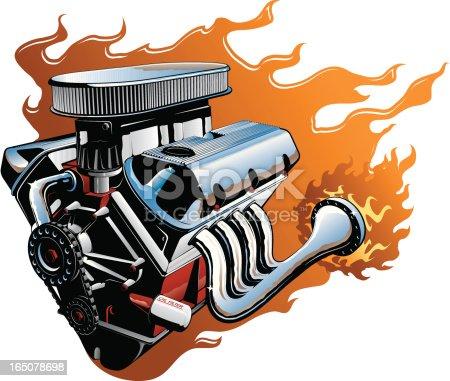 V8 Engine Clipart Vector V8 Engine stock...