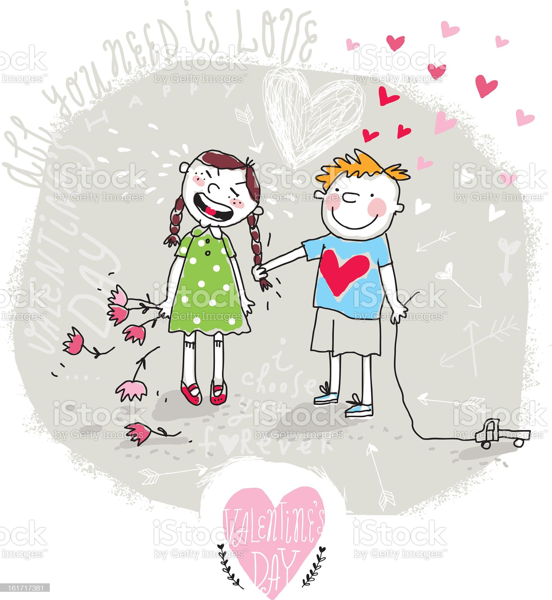 Vector Valentine Card royalty-free stock vector art