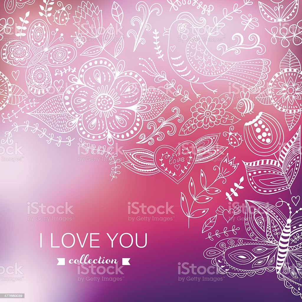Vector Valentine's Day background. Blurred template, holiday. In royalty-free stock vector art