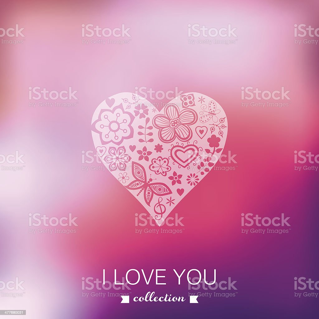 Vector Valentine's Day background. Heart. Blurred template, holi royalty-free stock vector art