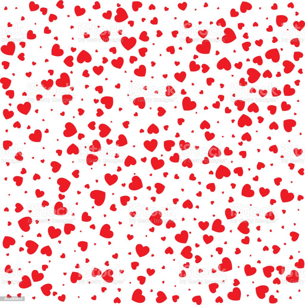 Vector Colorful Happy Valentines Day Card Seamless Pattern Hearts – Valentines Card Background
