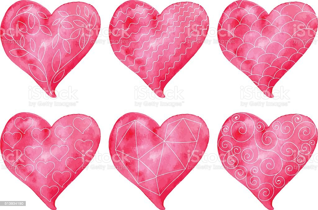 Vector Valentine's Heart Collection vector art illustration