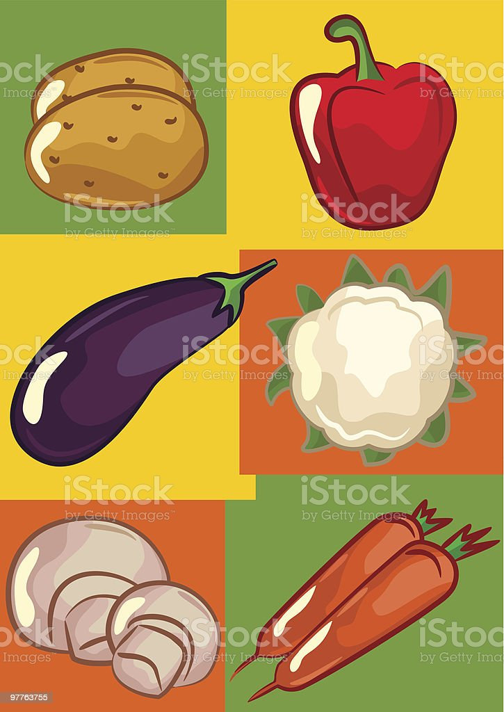 Vector vegetables royalty-free stock vector art