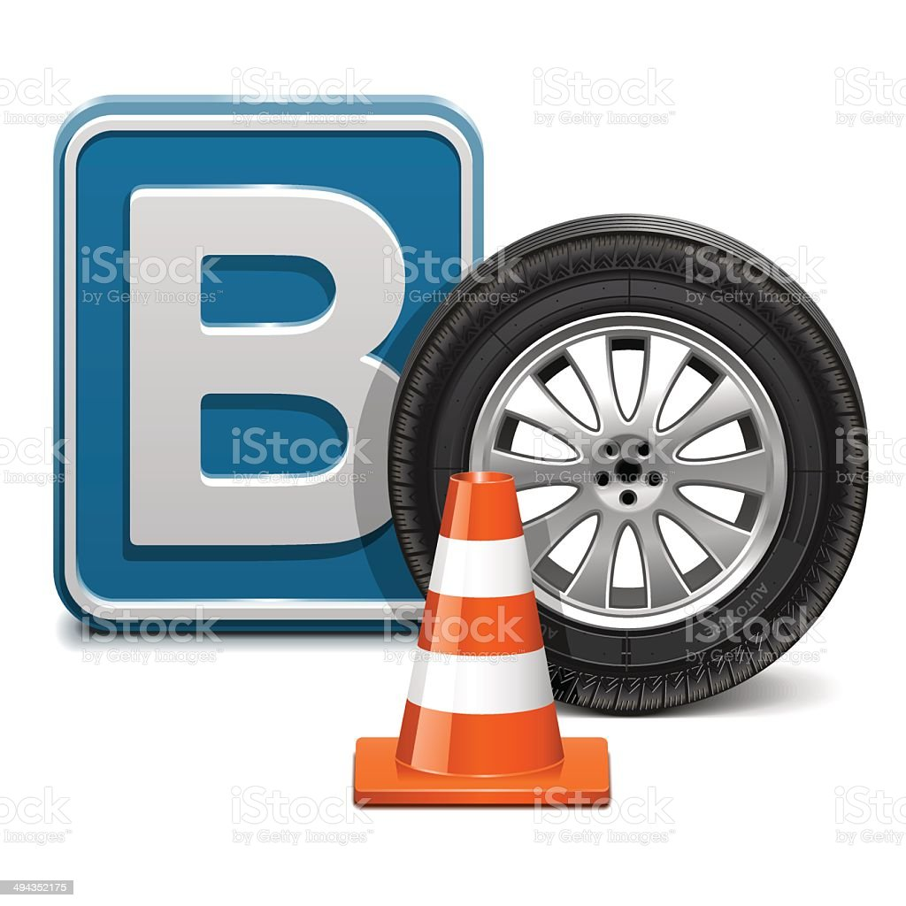Vector Vehicle Category B vector art illustration
