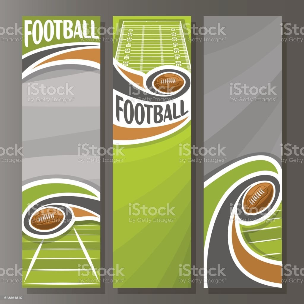 Vector Vertical Banners for American Football vector art illustration