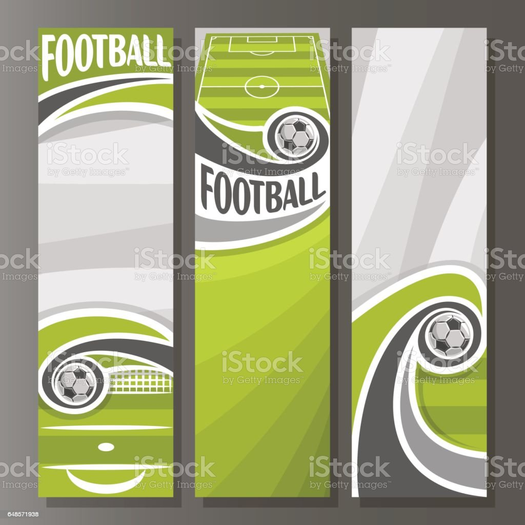 Vector Vertical Banners for Football vector art illustration