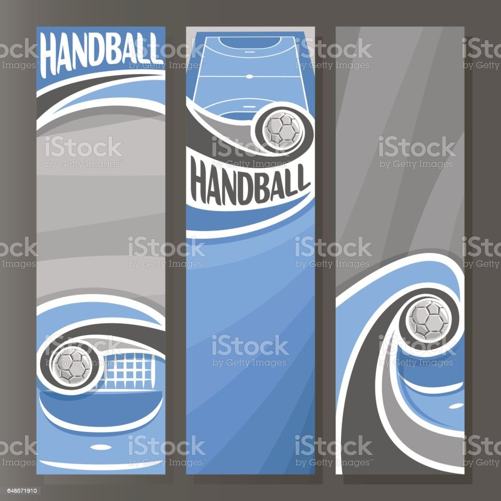 Vector Vertical Banners for Handball vector art illustration