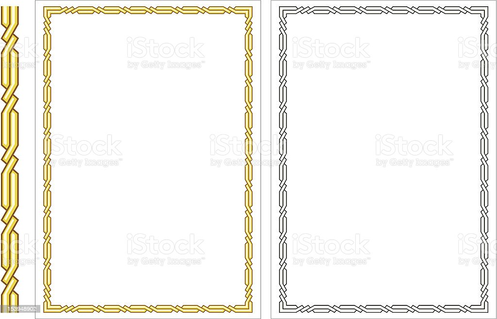 Vector vertical decorative frame vector art illustration