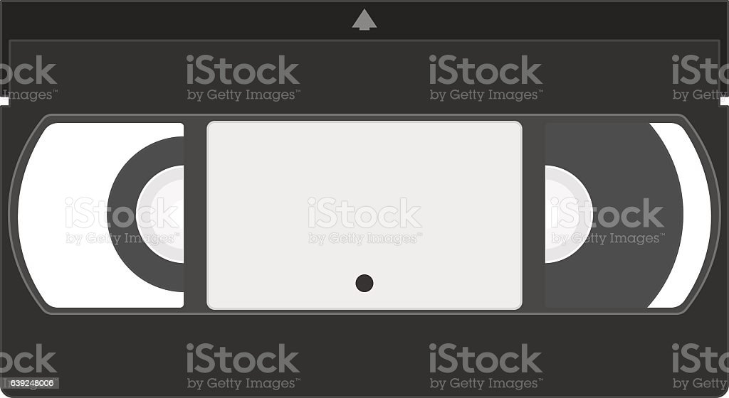 Vector VHS cassette icon. Videotape flat icon. vector art illustration