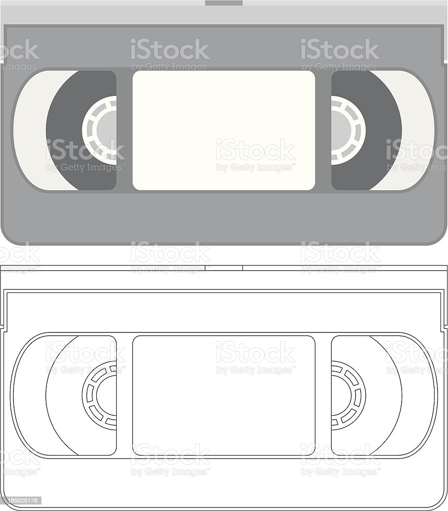 vector - VHS video tape royalty-free stock vector art