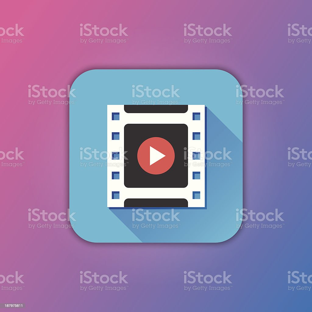 Vector Video Frame Icon vector art illustration