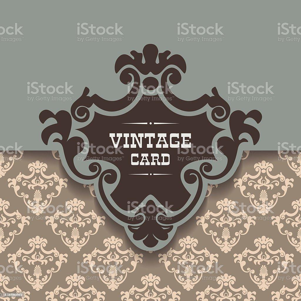 Vector vintage border frame royalty-free stock vector art