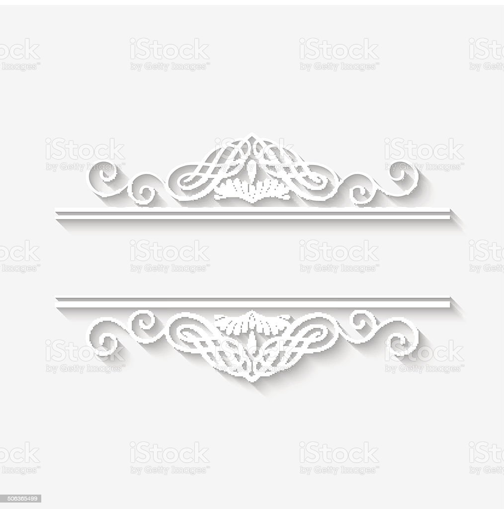 Vector Vintage Border White Frame vector art illustration