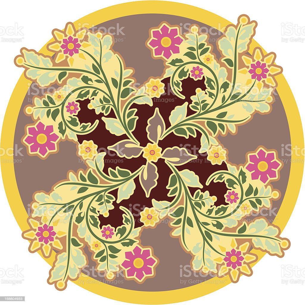 Vector Vintage Circle Ornament royalty-free stock vector art