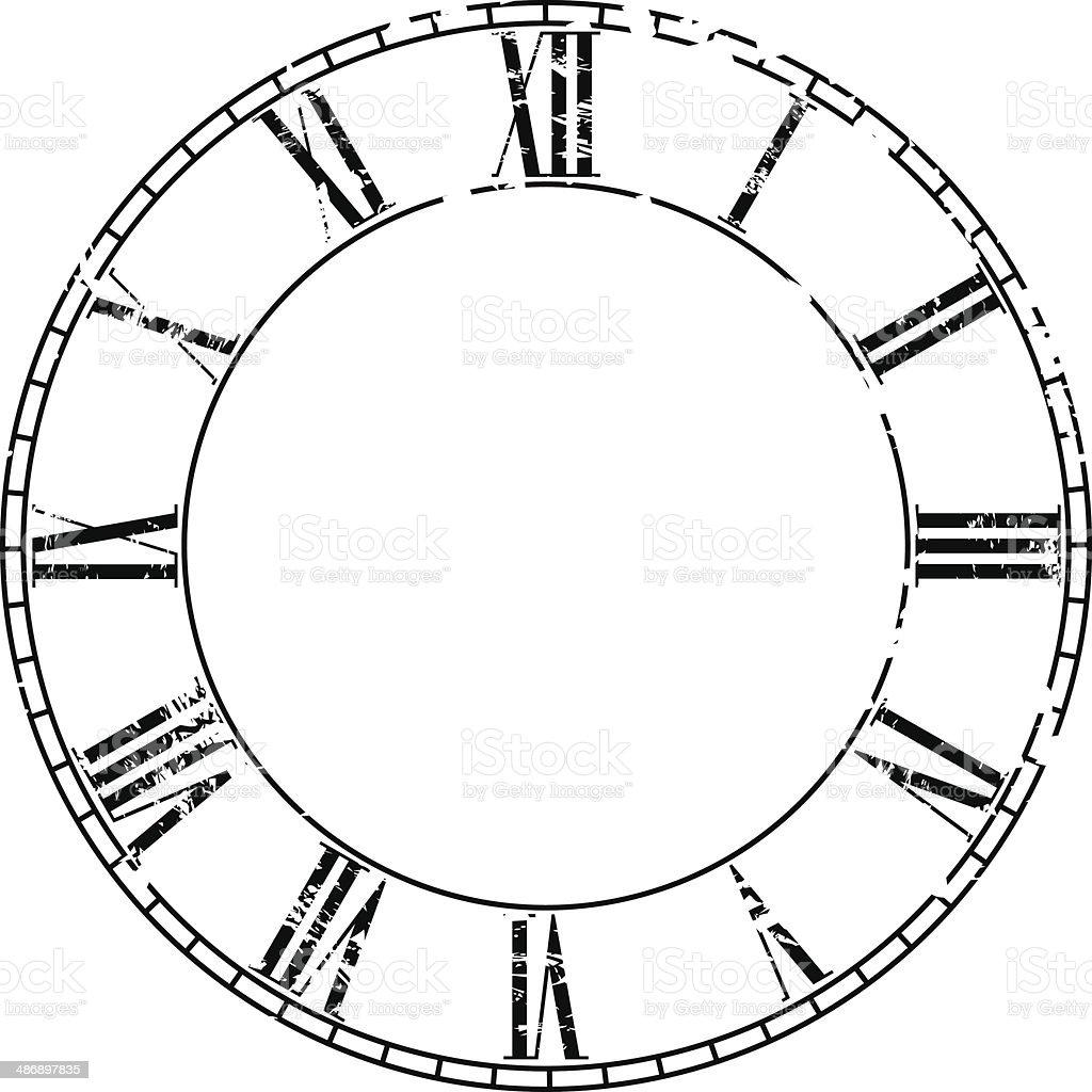 Vector vintage clock vector art illustration