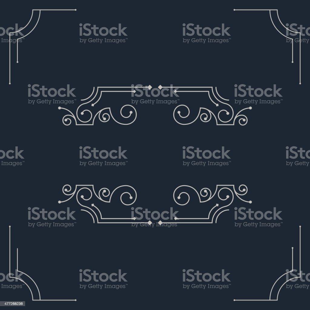Vector vintage decorative frames. vector art illustration