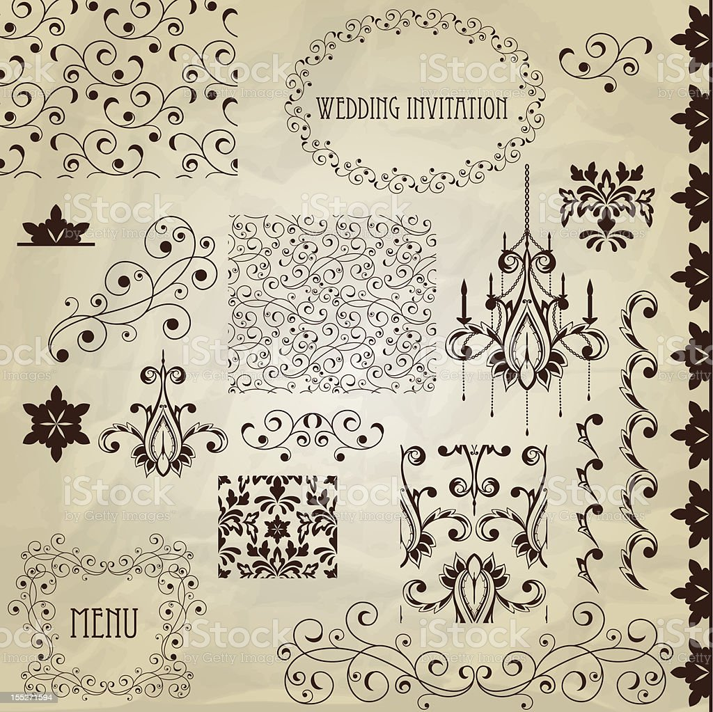 Vector Vintage Design Elements royalty-free stock vector art