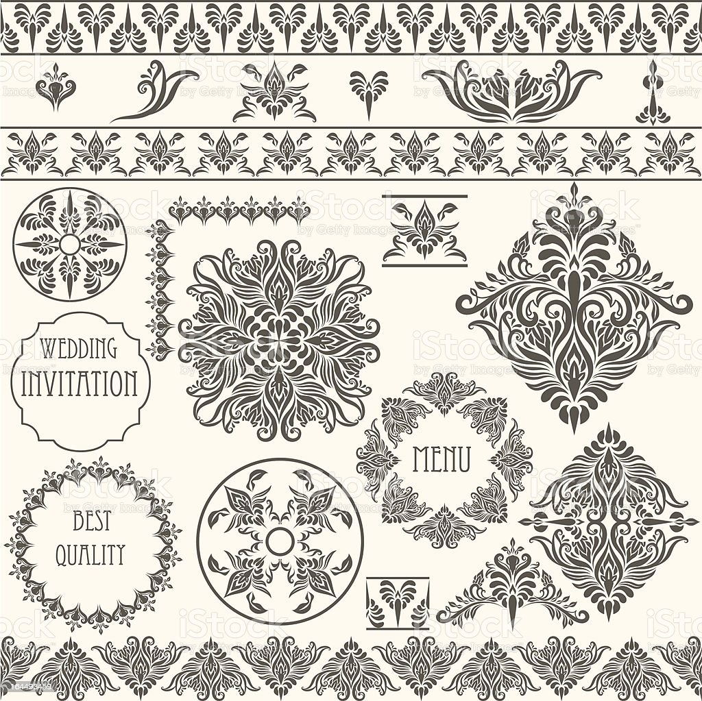 Vector Vintage Design Elements vector art illustration