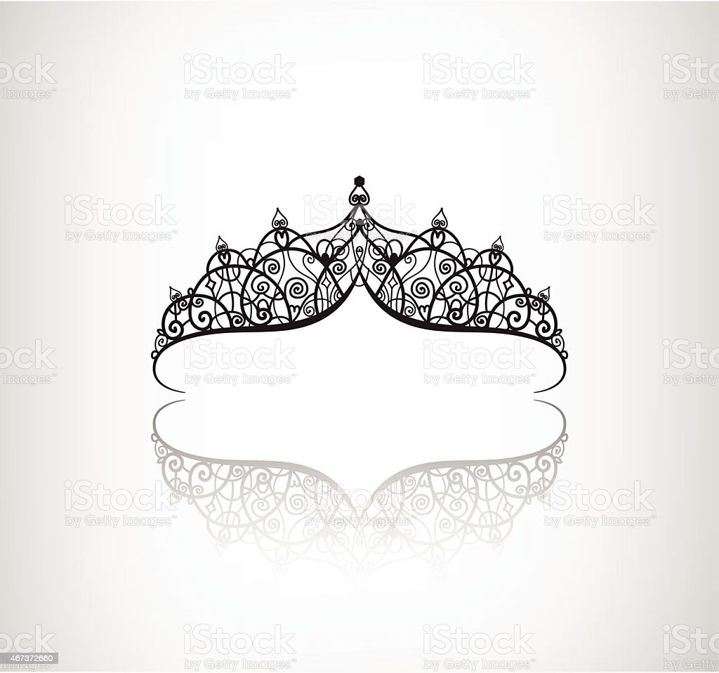 vector vintage elegant decorated with star crown icon vector art illustration