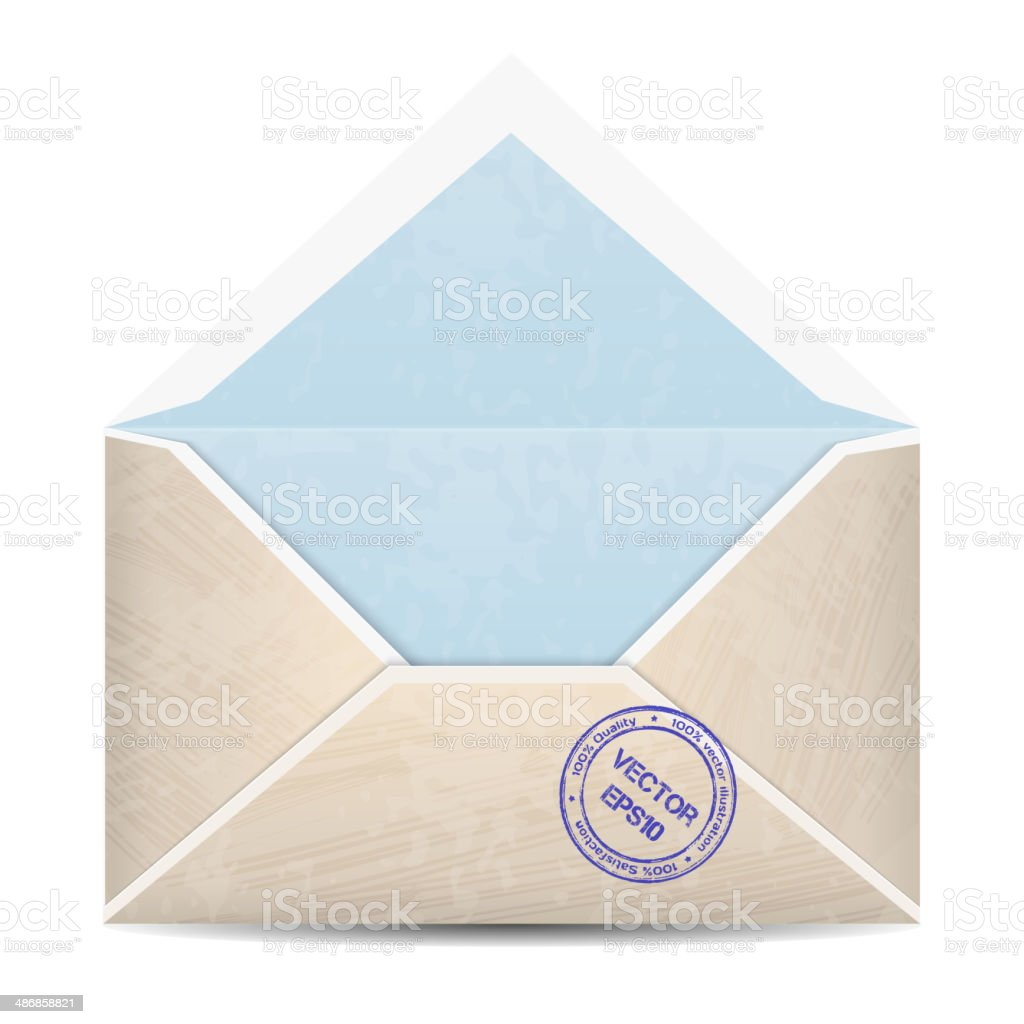 Vector vintage envelope royalty-free stock vector art