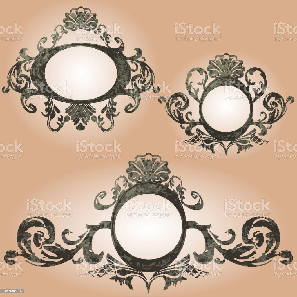 vector vintage frames set royalty-free stock vector art