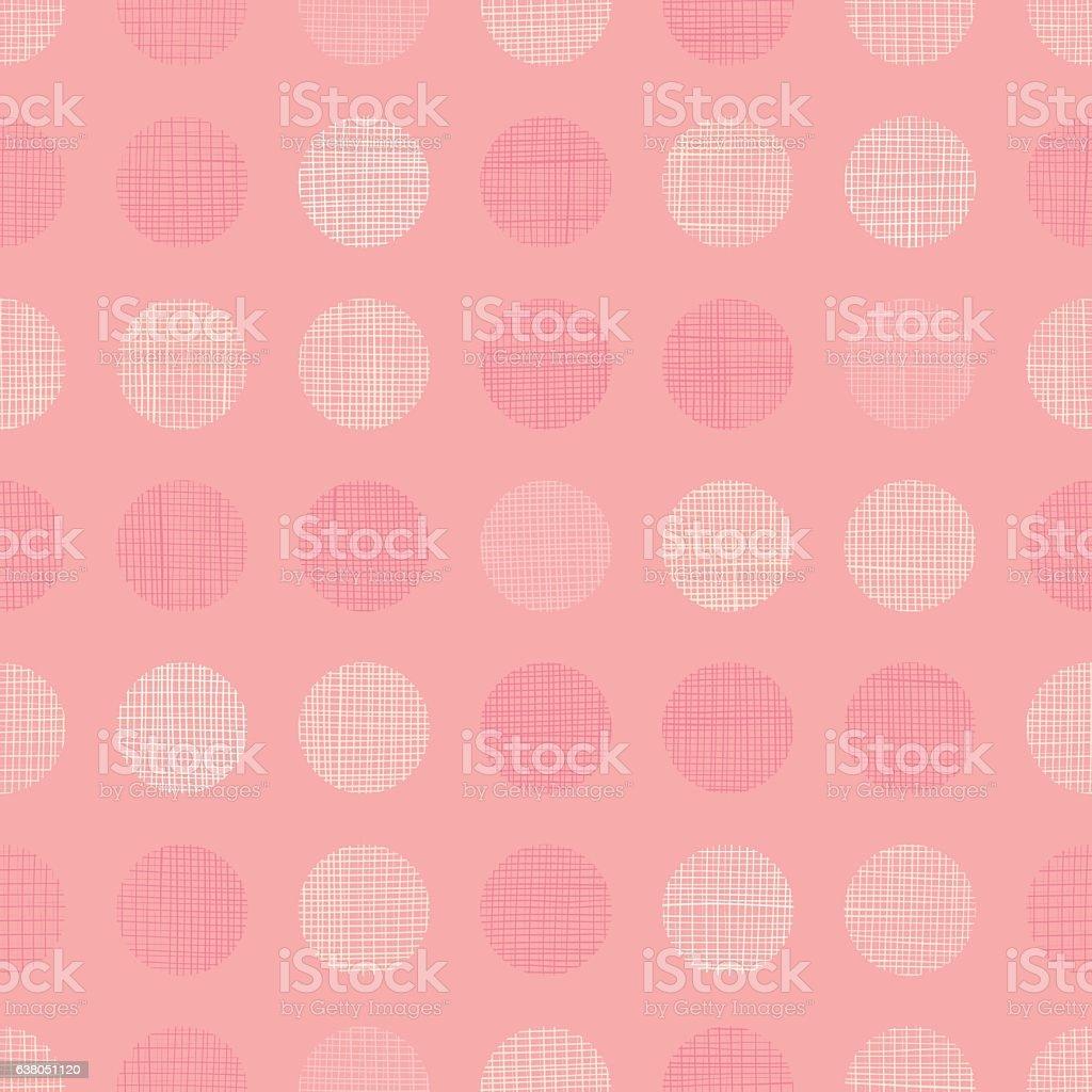 Vector Vintage Pastel Salmon Pink Baby Girl Dots Circles Seamless vector art illustration
