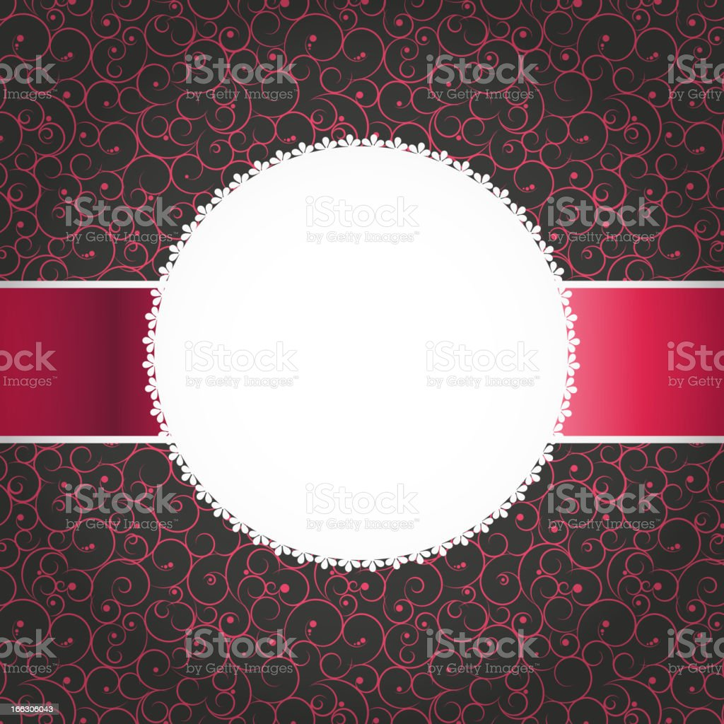 Vector vintage photo frame. Space for your text or picture. royalty-free stock vector art