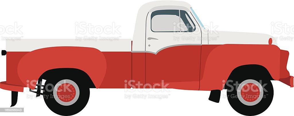 Vector Vintage Pickup Truck royalty-free stock vector art