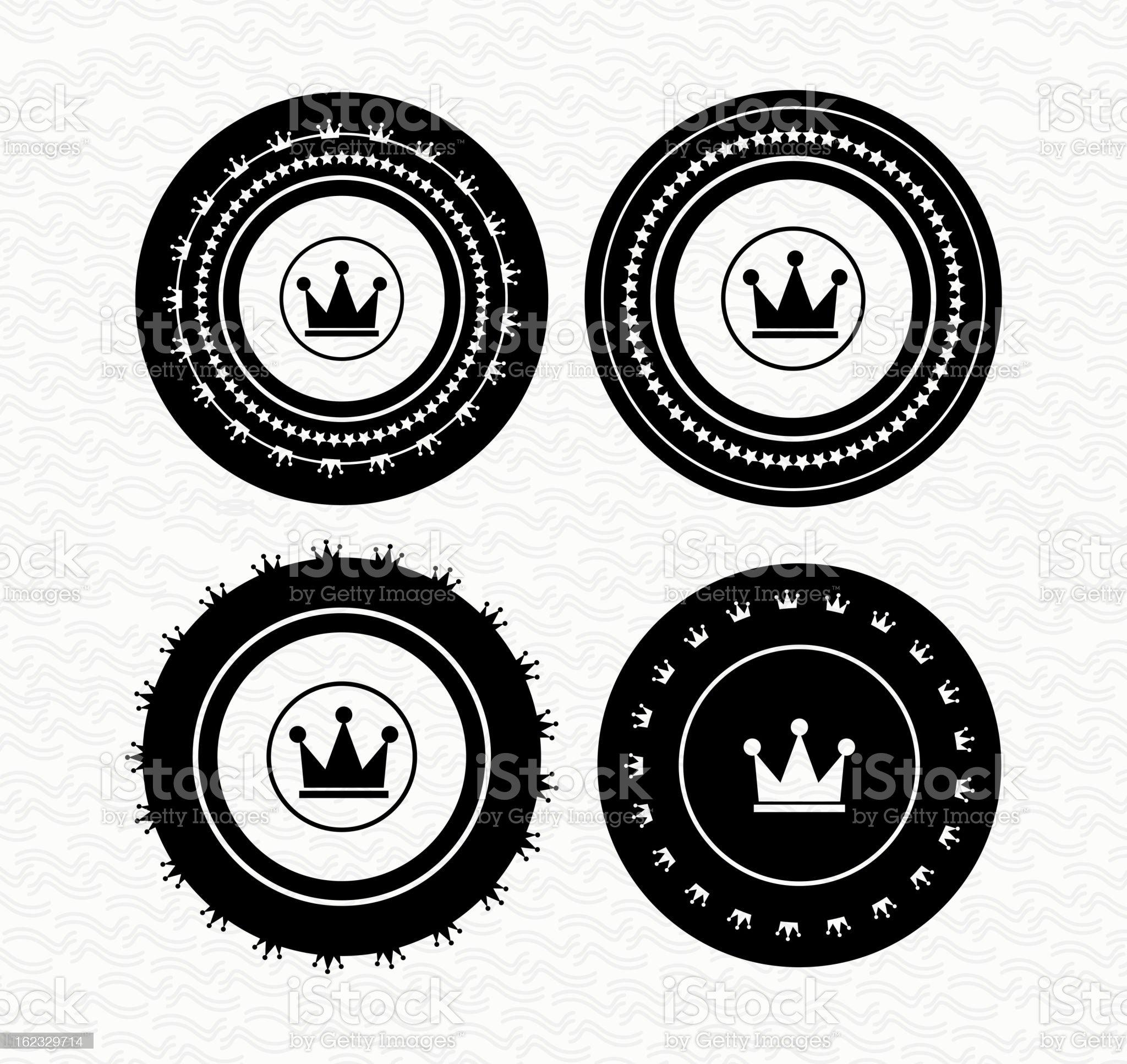 Vector vintage royal badges royalty-free stock vector art