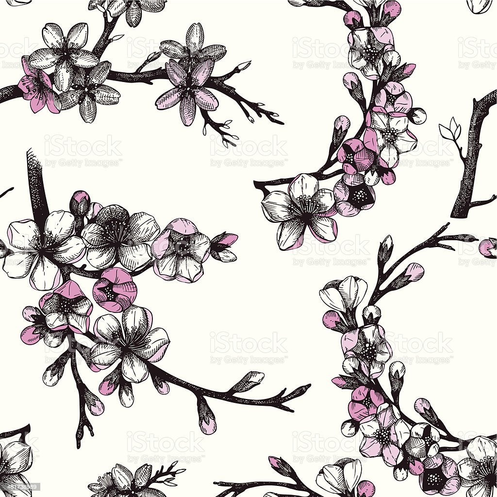 Vector vintage spring background royalty-free stock vector art