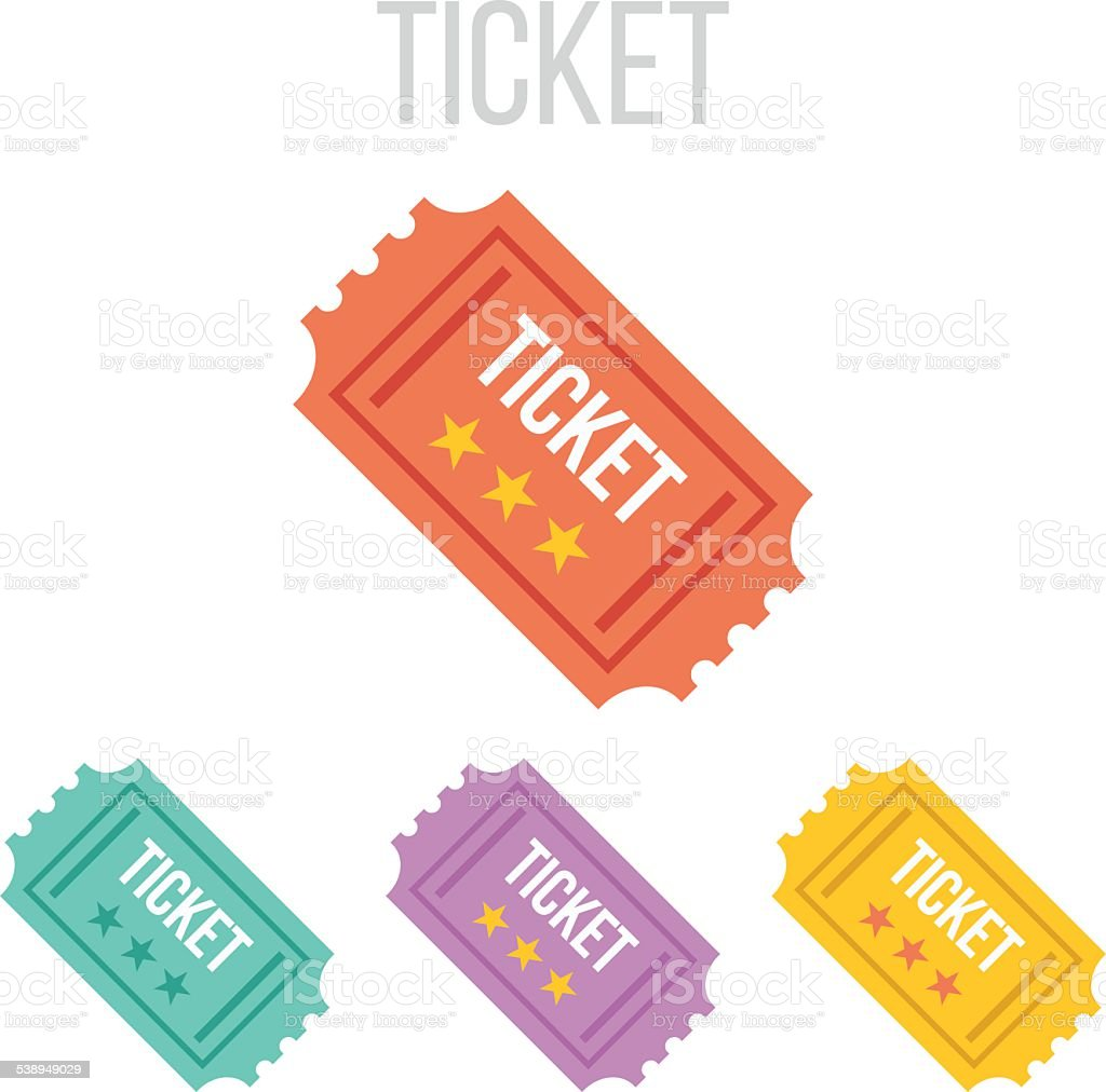 Vector vintage ticket icons vector art illustration