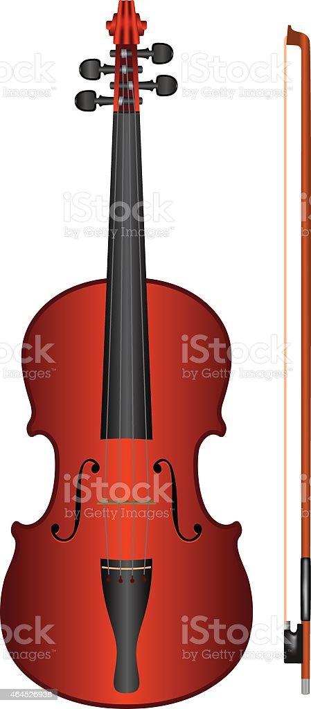 vector violin vector art illustration