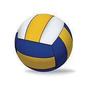 Vector Volleyball Isolated on White Illustration