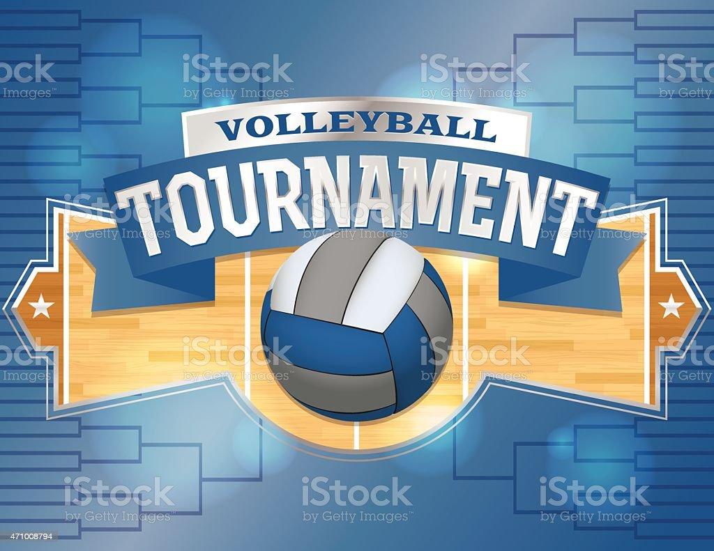 Vector Volleyball Tournament Design Poster Illustration vector art illustration
