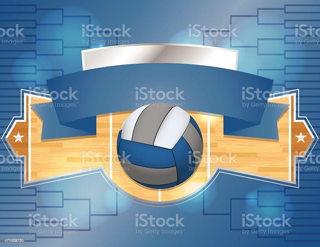 Vector Volleyball Tournament Illustration vector art illustration
