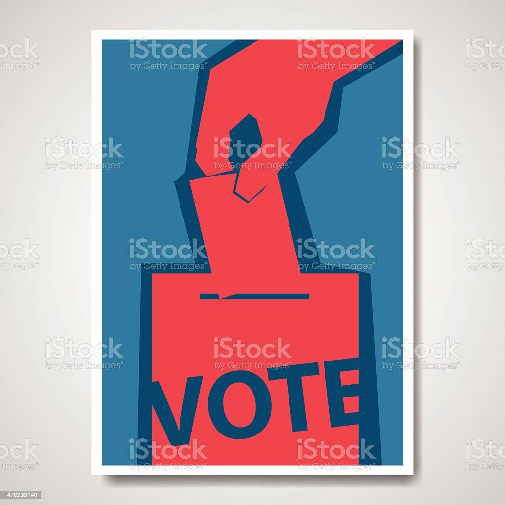 Vector vote election cover design vector art illustration