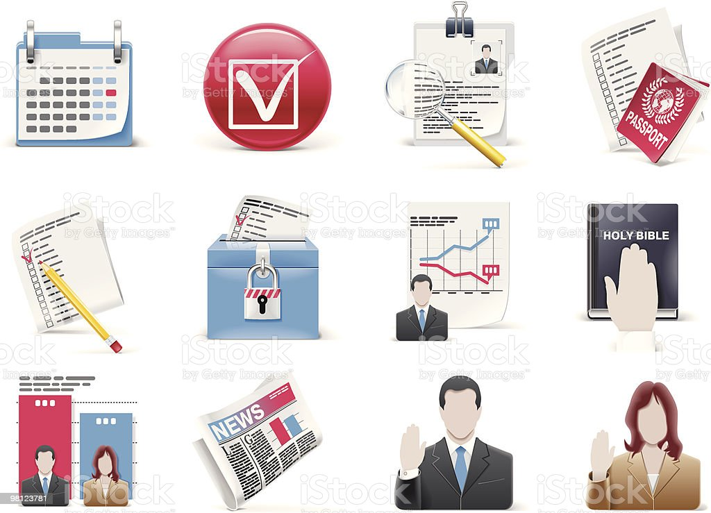 Vector voting and election icon set royalty-free stock vector art