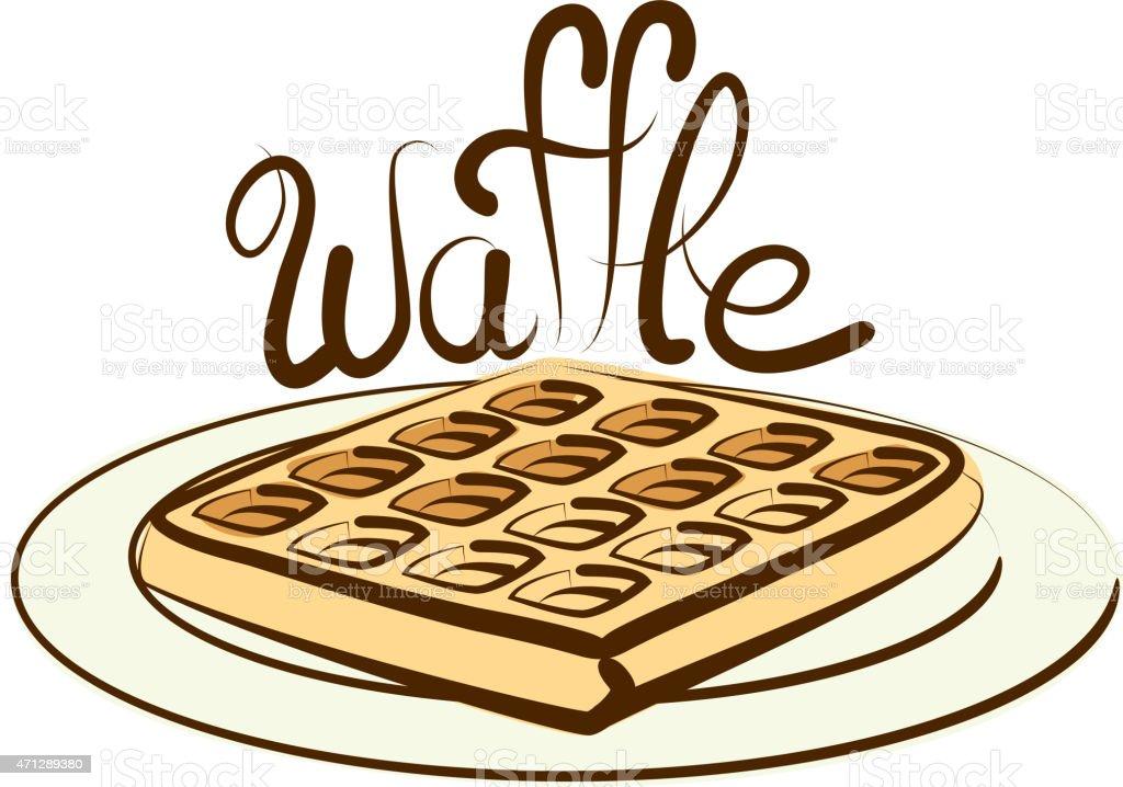 Vector Waffle vector art illustration