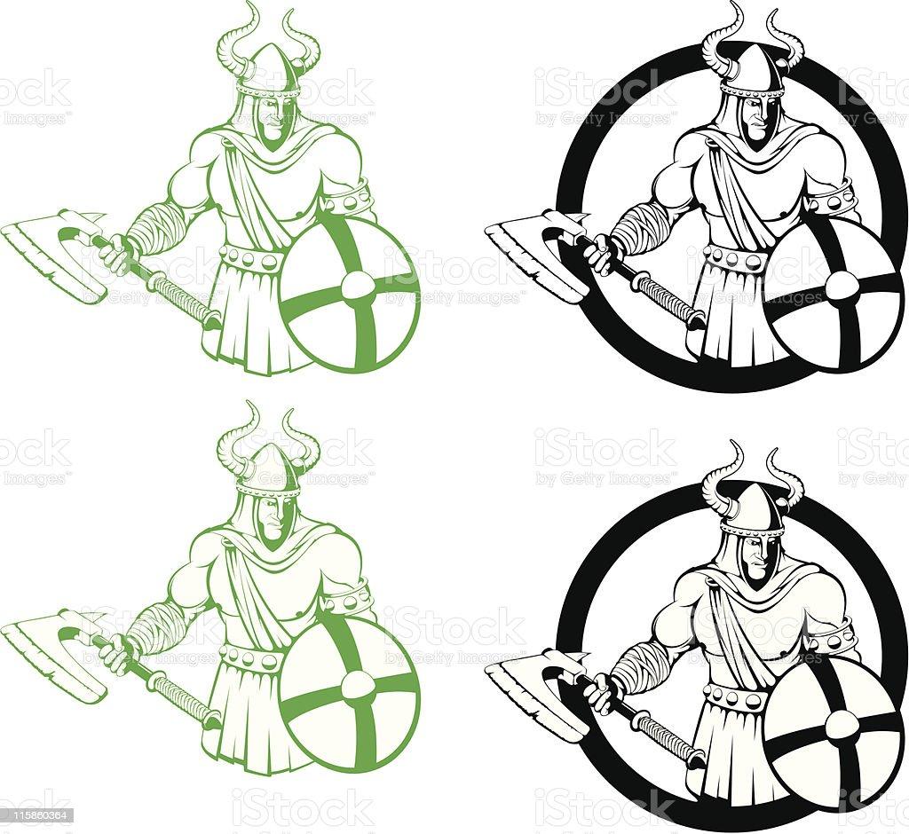 vector warrior royalty-free stock vector art