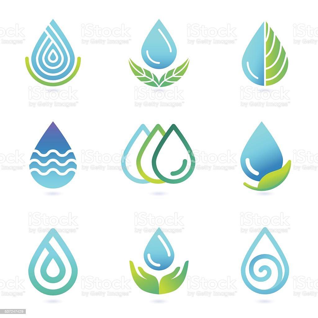 vector water and oil logo design elements stock vector art