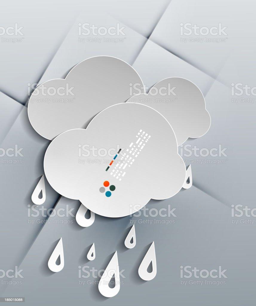 Vector water drops paper modern design royalty-free stock vector art